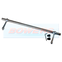 "24"" Stainless Steel Straight Badge Bar With Feet"