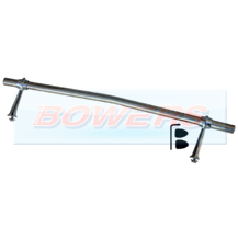 "24"" Stainless Steel Curved/Cranked Badge Bar With Feet"