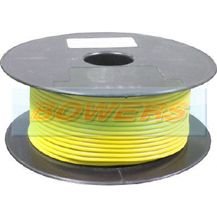 Thin Wall Yellow Single Core Cable 24/0.20mm 0.75mm² 100m Roll