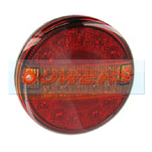 12v/24v Universal LED Rear Slim Line 140mm Combination Hamburger/Cheeseburger Tail Lamp/Light