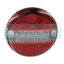 12v/24v Universal Clear LED Rear Slim Line 140mm Combination Hamburger/Cheeseburger Tail Lamp/Light