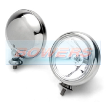 "Chrome 5"" Spotlights/Spotlamps For Classic Cars, Minis (inc BMW) & Others (Pair)"