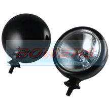 "Black 5"" Spotlights/Spotlamps For Classic Cars, Minis (inc BMW) & Others (Pair)"