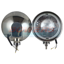 "12v/24v 8 1/4"" Round Stainless Steel Spot/Driving Lamp/Lights With Covers (Pair)"