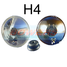 "5 3/4"" 5.75"" Classic Car Sealed Beam Outer Headlight/Headlamp Halogen H4 Conversion"