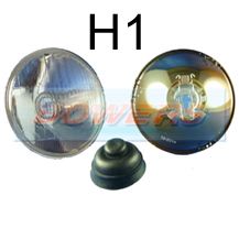 "5 3/4"" 5.75"" Classic Car Sealed Beam Inner Headlight/Headlamp Halogen H1 Conversion (Without Pilot)"