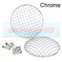 "Chrome Stone Guards For 5 3/4"" Headlights/Headlamps"
