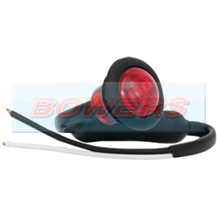 12v/24v Small Round Red LED Button Marker Lamp/Light