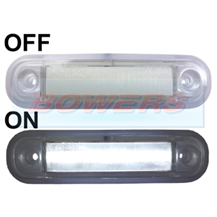 12v/24v Surface Mount White LED Front Marker Lamp/Light