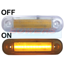 12v/24v Surface Mount Amber LED Side Marker Lamp/Light