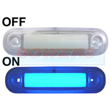 12v/24v Surface Mount Blue LED Marker Lamp/Light