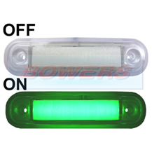 12v/24v Surface Mount Green LED Marker Lamp/Light