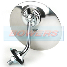 Lucas Style Chrome Round Exterior Door/Wing Mirror (Right Hand/Offside)