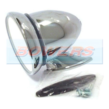 Chrome Bullet/Torpedo Sports/Racing Style Exterior Wing/Door Mirror