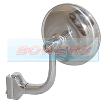 "3"" Inch Clamp On Stainless Steel Round Overtaking Peep Quarter Light Door Mirror"