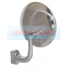 "4"" Inch Clamp On Stainless Steel Round Overtaking Peep Quarter Light Door Mirror"