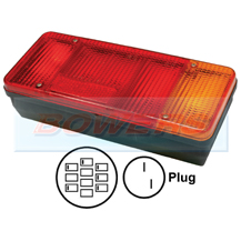 Rear Right Hand Offside Combination Tail Lamp Light Unit For Iveco Daily Tipper / Eurocargo