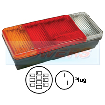 Rear Left Hand Nearside Combination Tail Lamp Light Unit For Iveco Daily Tipper / Eurocargo