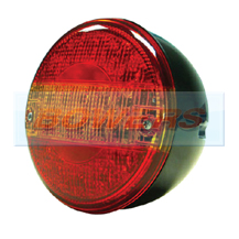 12v/24v Universal LED Rear 140mm Combination Hamburger/Cheeseburger Tail Lamp/Light