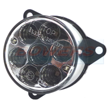 55mm Round Inner LED Clear Rear Stop/Tail Light For 98mm Combinable Lights Lamps