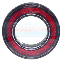 98mm Round Red Rear Outer Ring Reflector For 55mm Combinable Lights Lamps