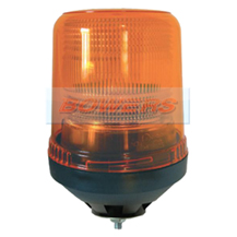 12v/24v Single Bolt Mounting Xenon Flashing Amber Beacon