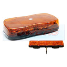 12v/24v Single Bolt On Mini Slim LED Flashing Amber Light Bar