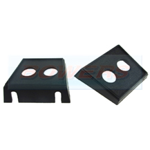 Twin 2 Round Hole Rocker / Toggle Switch / Warning Light Mounting Panel Holder