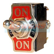 12v Heavy Duty Double Pole Metal Toggle Switch ON/OFF/ON