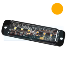 Low Profile Amber 6 LED Strobe Warning Lamp Light BXPLWL-10100