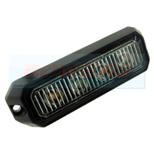 Compact Amber 4 LED Strobe Warning Lamp Light