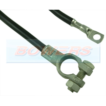 9 Inch 225mm Black Battery Earthing Cable + Battery Terminal