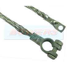 9 Inch 225mm Braided Battery Earthing Cable + Battery Terminal