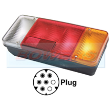 Rear Right Hand Offside Combination Tail Lamp Light Unit For Iveco Daily Tipper