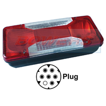 Rear Left Hand Nearside Combination Tail Lamp Light Unit For Iveco Daily Tipper 2006 Onwards