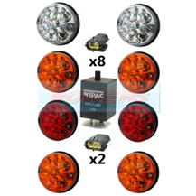 Land Rover Defender Traditional Coloured 73mm LED Lamp/Light Upgrade Kit RDX As Wipac DA1192