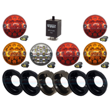 Land Rover Defender Traditional Coloured 95mm Rear NAS 6 LED Lamp/Light Upgrade Kit RDX/Wipac