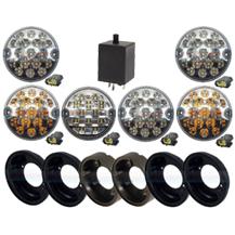 Land Rover Defender Complete Set 10 LED Lamp Light Upgrade Kit RDX Wipac Ring
