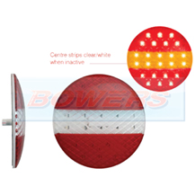 LED Autolamps EU140STIM 12v/24v Low Profile Round Rear European Style LED Combination Stop/Tail/Indicator Trailer Lamp/Light