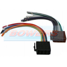 Car Stereo/Radio Wiring Harness ISO Block To Bare Wire Adaptor AIS2030