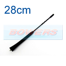 Universal M5/M6 Thread 28cm Anti-Noise Flexible Rubber Base Screw In Car Aerial/Ariel/Arial Antenna
