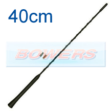 Universal M5/M6 Thread 40cm Anti-Noise Flexible Rubber Base Screw In Car Aerial/Ariel/Arial Antenna