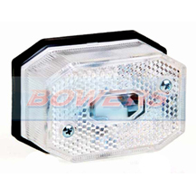 White/Clear Front Marker Light/Lamp For Ifor Williams Brian James Trailers