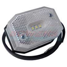 White LED Front Marker Light/Lamp For Ifor Williams Brian James Trailers