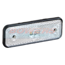 12v/24v Low Profile White LED Front Marker Lamp/Light