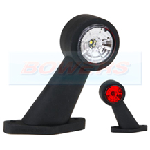 12v/24v Red White LED End Outline Rubber Stalk Marker Light Lamp FT-009CLED
