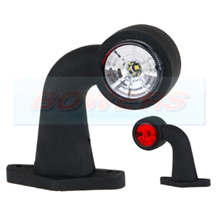12v/24v Red White LED End Outline Rubber Stalk Marker Light Lamp FT-009DLED