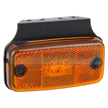 12v/24v Amber LED Side Marker Lamp/Light FT-019Z With Bracket
