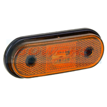 12v/24v Oval Amber LED Side Marker Lamp/Light FT-020Z