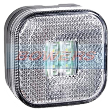 12v/24v Square White LED Front Marker Lamp/Light
